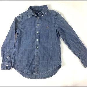 Ralph Lauren Boys Chambray Button Shirt